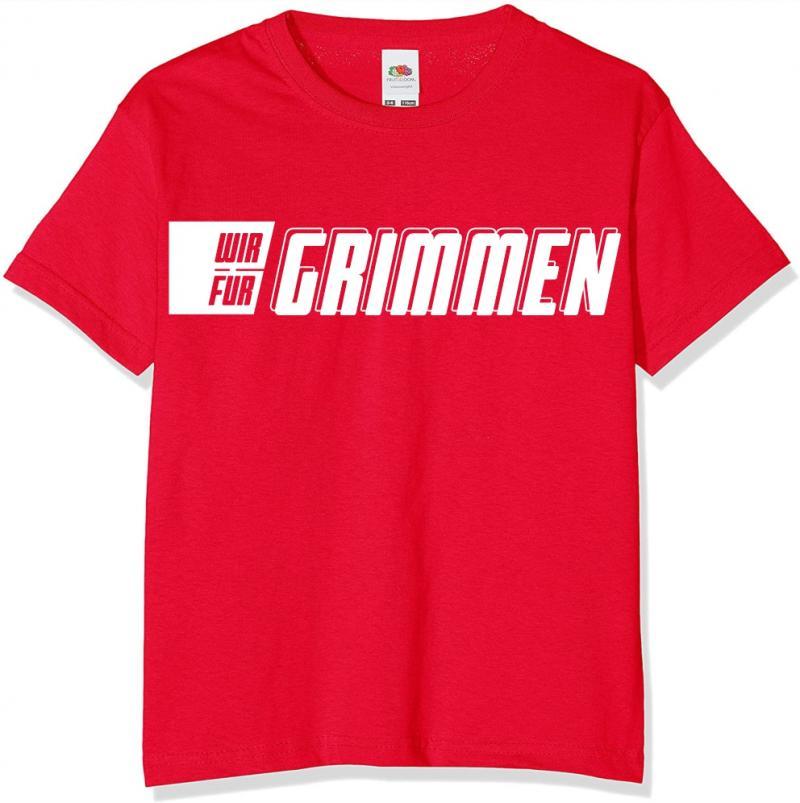 T-Shirt Herren/Unisex Schriftzug WIR FÜR GRIMMEN