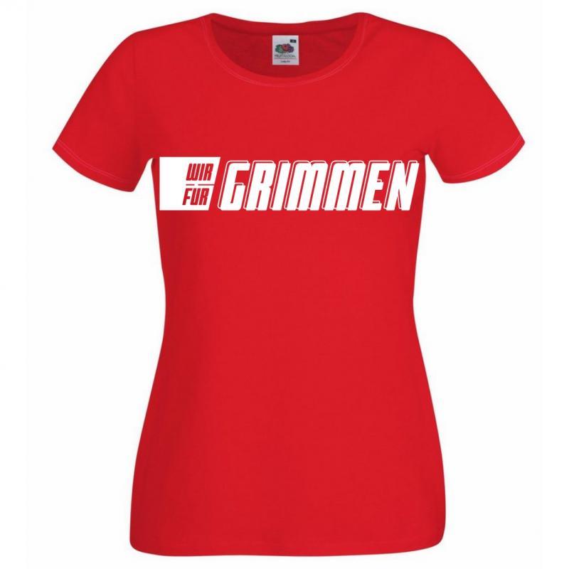 T-Shirt Damen Schriftzug WIR FÜR GRIMMEN