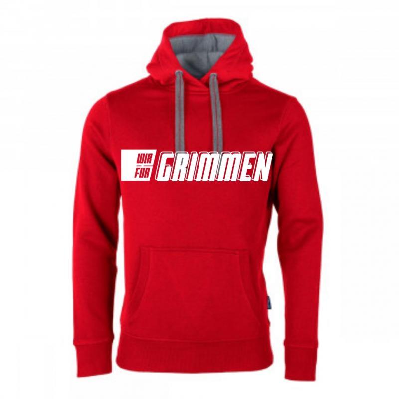 Hooded Sweater Schriftzug WIR FÜR GRIMMEN